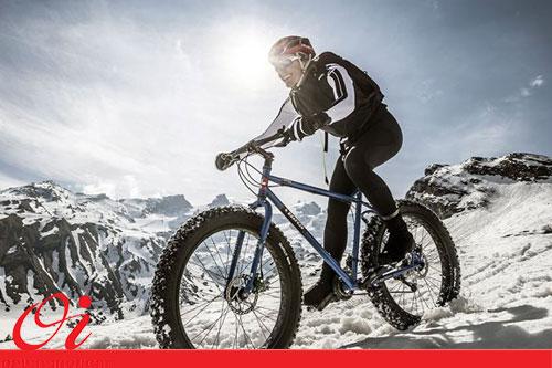 دوچرخه سواری در هوای سرد